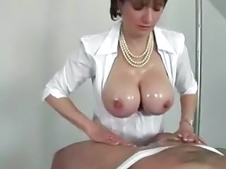 Big Tits MILF Natural Oiled Tits job
