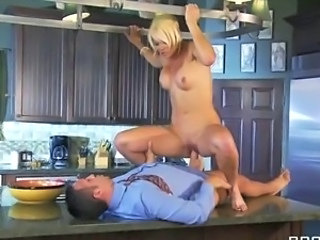 Blonde Hardcore Kitchen MILF Riding Wife