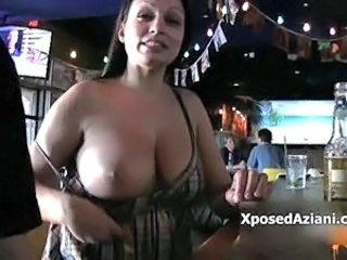 Big Tits Bus Drunk MILF Natural Party Public