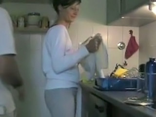 Amateur Homemade Kitchen Mature Wife