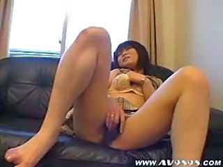 Asian Hairy Japanese Masturbating