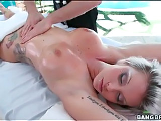 Babe Massage Oiled Outdoor Piercing Tattoo