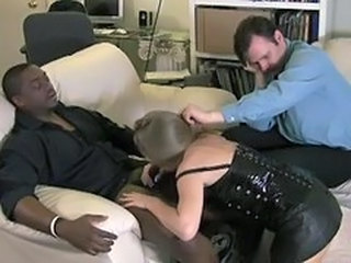 Blowjob Clothed Cuckold Interracial Wife