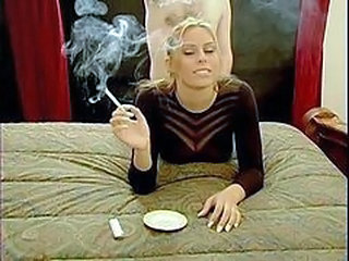 Blonde Doggystyle MILF Smoking