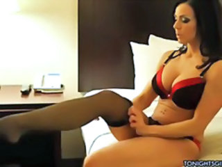Amazing Big Tits Brunette Bus Cute Lingerie MILF Stockings