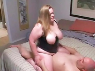 BBW MILF Natural Older Riding SaggyTits Wife