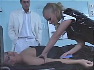 Blonde Latex MILF Nurse Pornstar Uniform