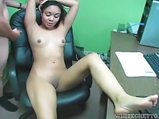 Ebony MILF Office