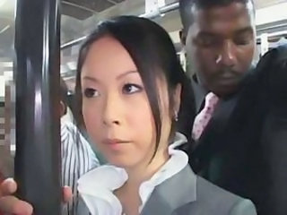 Asian Interracial MILF Office Public Secretary