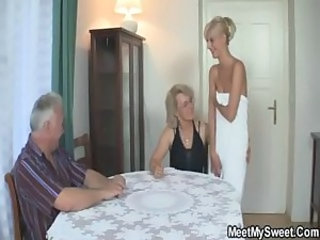 Daddy Daughter Family Mature Mom Old and Young