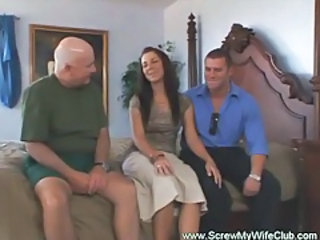 Old and Young Swingers Threesome