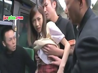 Molester hell school girl on train 1
