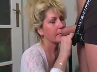 Blonde Blowjob Mature Mom