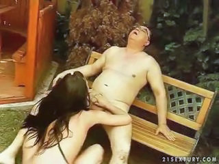Blowjob Daddy Daughter Old and Young Outdoor Teen