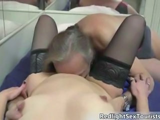 Daddy Licking Stockings