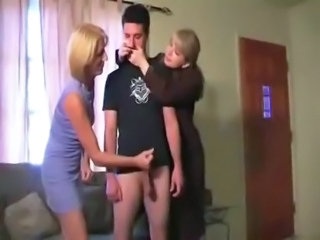 CFNM Handjob MILF Mom Old and Young