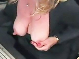 Big nipples and big clit housewife masturbating and squirting
