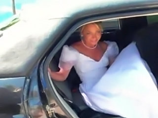 Amateur Bride Car Teen