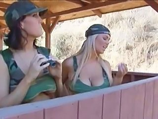 Amazing Army Big Tits MILF Natural Outdoor Uniform