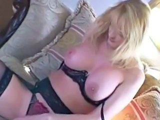 Blonde Lingerie MILF Natural Wife