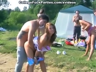 Amateur Groupsex Orgy Outdoor Party Student Teen
