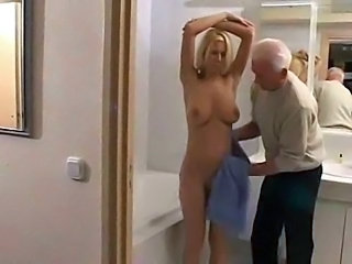 Blonde Daddy Daughter Natural Old and Young Teen