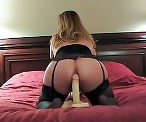 Amateur Ass Blonde Dildo Lingerie Masturbating MILF Toy