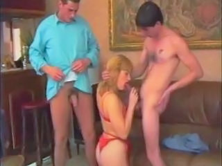 Amateur Blowjob French Lingerie Threesome