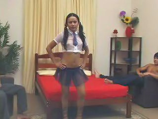 Pigtail Student Teen Uniform