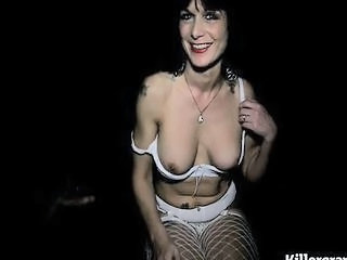 Blowjob Fishnet Lingerie Mature SaggyTits