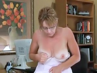 Glasses Mature SaggyTits Solo Stripper