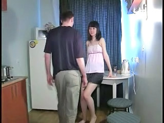 Amateur Kitchen Russian Teen