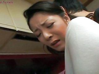 Amateur Asian Doggystyle Japanese Kitchen Mom