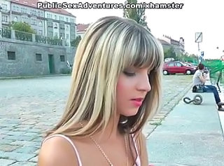 Cash Cute Public Skinny Teen