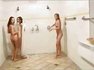 Showers Teen Threesome