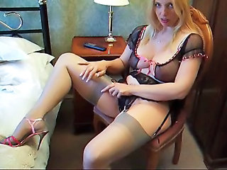 Amateur Amazing Lingerie MILF Stockings