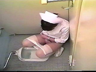 Asian Japanese Nurse Teen Toilet Uniform