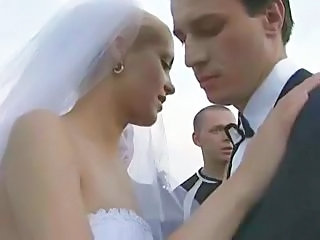 Bride Fucked Outdoors By More Than One Guy!