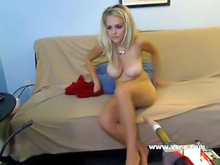 Amazing Blonde Bus Cute Machine SaggyTits Solo Teen