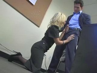 Amazing Big cock Blonde Blowjob Clothed MILF Office Secretary