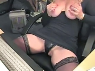 Mature Office Panty Stockings Upskirt