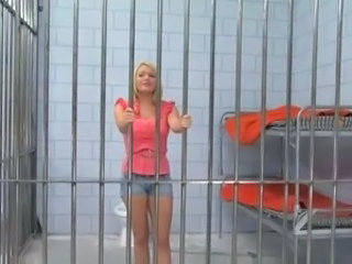 Beautiful Blonde In Jail Gives A Black Cock A Great Workout