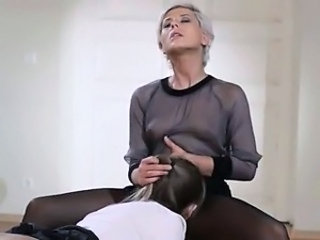 Lesbian Licking Old and Young Pantyhose
