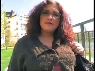 Amateur BBW French Glasses MILF Outdoor