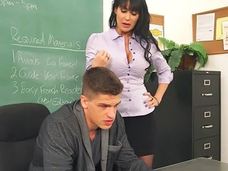 Bus European French MILF School Teacher