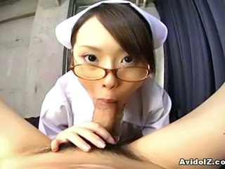 Asian Blowjob Glasses Japanese Nurse Pov Teen Uniform