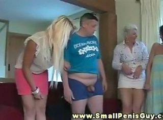 Small dick bloke acquiring humiliated by doms