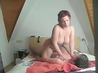 Big Tits European German Homemade MILF Riding