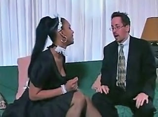 Ebony Interracial Maid MILF
