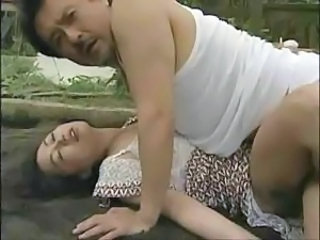 Asian Old and Young Outdoor